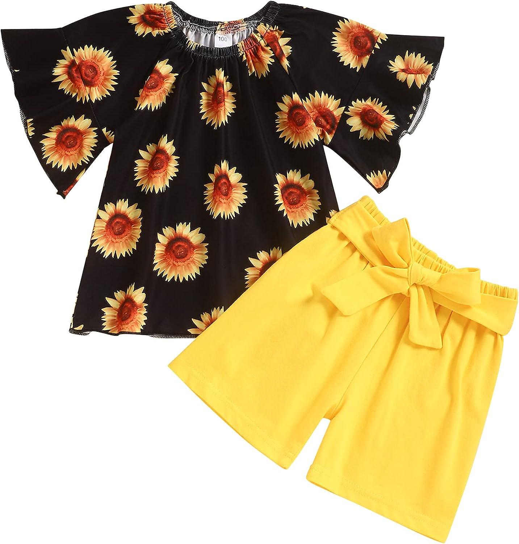Toddler Baby Girls Infant Summer Outfits Leopard Print Short Sleeve T-Shirt Shorts Newborn Clothes Sets 2Pcs