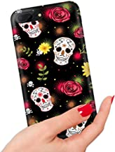 for iPhone 6 Plus, iPhone 6S Plus, Quality Art Design Soft Edge IMD Phone Case Cover, IMD0049 Day of Dead Sugar Skull 0049