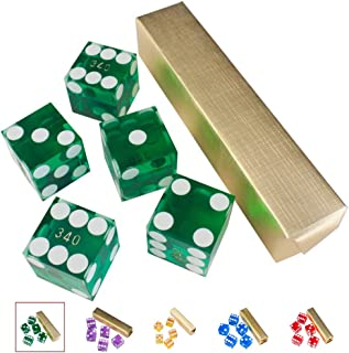 GSE Games & Sports Expert AAA Grade 19mm Casino Craps Dice with Razor Edges and Serialized Set (Set of 5)