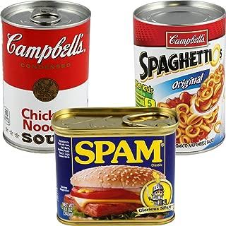 BigMouth Inc (Set) Spam, Campbell's, Spaghettios Cans Secret Safes Hide Your Valuables