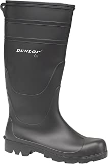 Dunlop - Botas de agua estilo Wellington de PVC modelo Universal para hombre