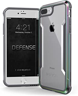 iPhone 8 Plus & iPhone 7 Plus Case, X-Doria Defense Shield - Military Grade Drop Tested, Anodized Aluminum, TPU, and Polycarbonate Protective Case for Apple iPhone 8 Plus & 7 Plus (Iridescent)
