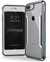 iPhone 8 Plus & iPhone 7 Plus Case, X-Doria Defense Shield - Military Grade Drop Tested, Anodized Aluminum, TPU, and Polycarbonate Protective Case for Apple iPhone 8 Plus & 7 Plus (Iridescent)