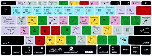 XSKN Adobe Photoshop CC Shortcuts Keyboard Skin Hotkeys PS Keyboard Skin Cover for MacBook 12 inch with Retina Display 2015 Version, US Layout