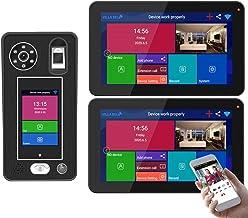 HBHYQ Apartamento 9 Pulgadas 2 monitores WiFi inalámbrico Video Door Portero Timbre Sistema de intercomunicación 1080p Cám...