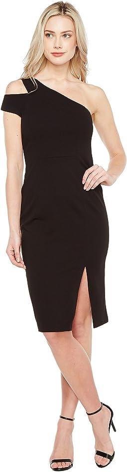 Crepe Scuba One Shoulder Dress