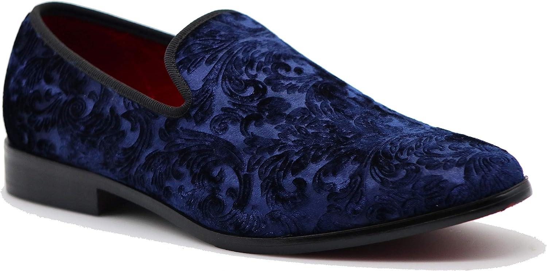 SPK35 Men's Vintage Velvet Flower Loafers Designer Slip On Ranking integrated 1st place Special sale item Dress
