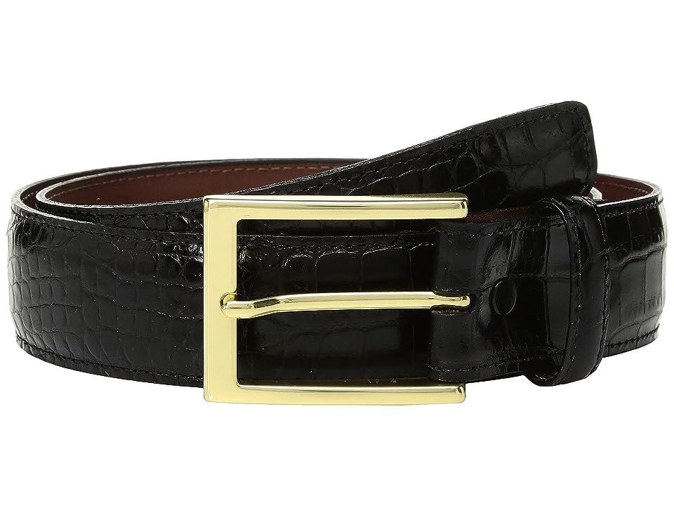 Torino Leather Co. 35mm Gator Grain Embossed Calf (Black) Men