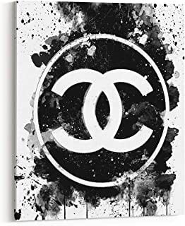 Wall Glam Fashion Art Canvas Designer Poster Black