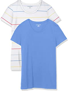 Amazon Essentials Women's 2-Pack Classic-Fit Short-Sleeve Crewneck T-Shirt