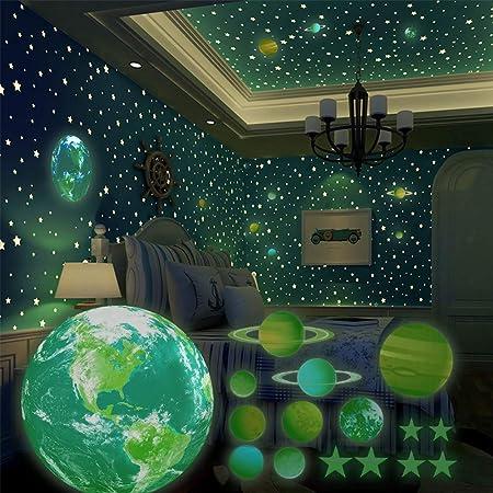 Wandaufkleber Sternenhimmel Aufkleber f/ür Babyzimmer Deko Leuchtsticker Regenbogen Wandsticker Deko Wohnzimmer Schlafzimmer Wanddeko Leuchtsterne Selbstklebend Wandtattoo Hase Kinderzimmer M/ädchen