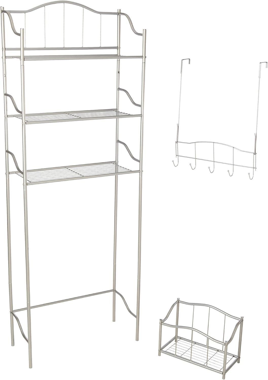 CreativeWare Fort Worth Mall 3-PC Metal Bath Ensemble Shelves Popular products Nickel