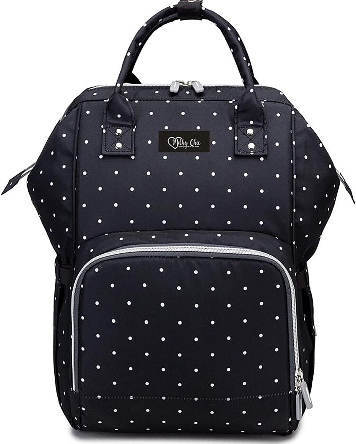Milky Chic Mommy Diaper Bag- Waterproof USB Charging Port Stroller Straps Changing Pad