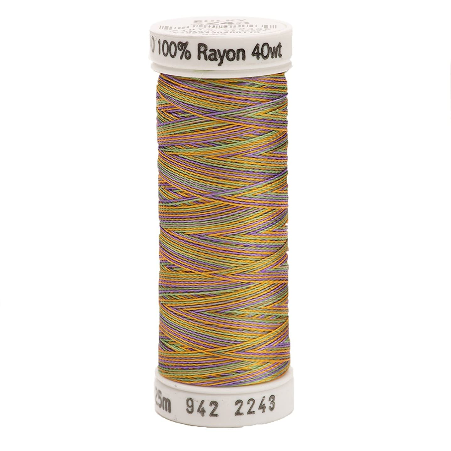 Sulky 942-2243 Rayon Thread for Sewing, 250-Yard, Medium Green/Purple/Gold