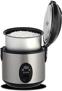 Soles Rice Cooker Compacto 821 - Arrocera eléctrica con revestimiento antiadherente - 4 porciones - 0,8L - Acero inoxidable