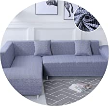 Krystal_beautiful Please Order Sofa Set (2piece) If is L Shaped Corner Chaise Longue Sofa Elastic Couch Cover Stretch Sofa Covers for Living Room,Color 18,Pillow case-2pcs