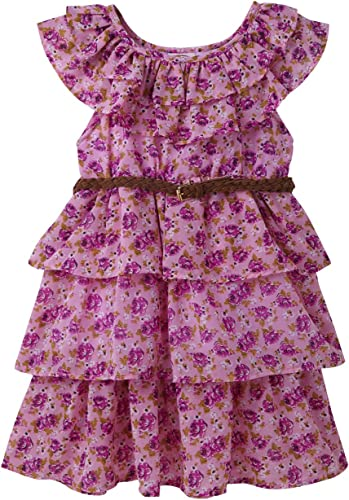 Cub McPaws White Georgette Girls Dress with Belt 4 12 Years