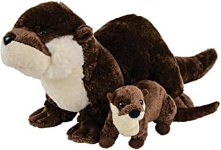 Adventure Planet Birth of Life River Otter with Baby Plush Toy 12.5