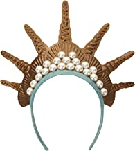 elope Gold Mermaid Costume Crown Headband for Women