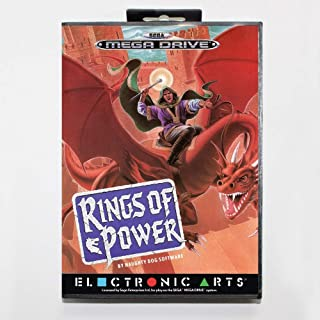 ROMGame Rings Of Power 16 Bit Sega Md Game Card With Retail Box For Sega Mega Drive For Genesis