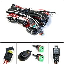 iJDMTOY (1) Deutsch DT DTP Connectors Relay Harness Wire Kit with LED Light ON/OFF Switch For Off-road LED Pod Lights, LED Worklamps, LED Light Bars, Aftermarket Fog Lights, Driving Lights, etc