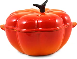 Le Creuset Enameled Cast-Iron 2-1/4-Quart Pumpkin Casserole, Flame