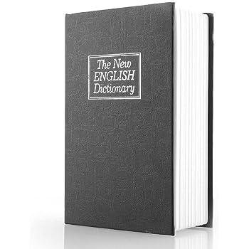 ISIYINER The New English dictionary - Caja fuerte de seguridad con forma de diccionario con texto en inglés: Amazon.es: Bricolaje y herramientas