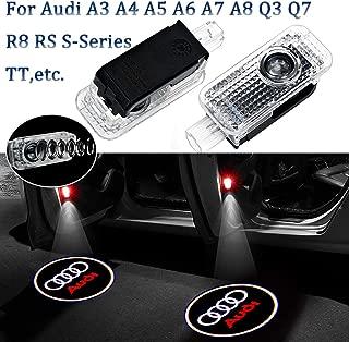 2PCS Audi Door Light A3 A4 Welcome Light Audi Logo Door Light Projector Car Ghost Shadow Light Lamp Wireless White for Audi A3 A4 A5 A6 A7 A8 Q3 Q7 R8 RS S-Series TT
