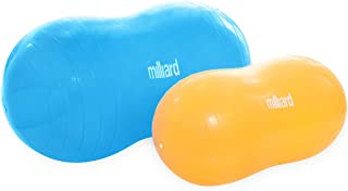 Milliard Peanut Ball Variety Pack - Approximate Sizes: Orange 23x12 inch (60x30cm) and Blue 31x15 inch (80x40cm) Physio Roll