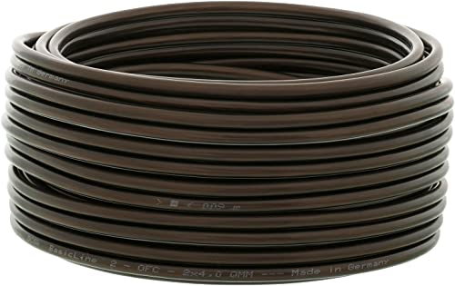 DCSk - 10m - 2 x 4mm² - Câble Audio Noir pour Enceintes - Câble HP en Cuivre OFC pour HiFi et Hi-FI Embarquée - Fabri...