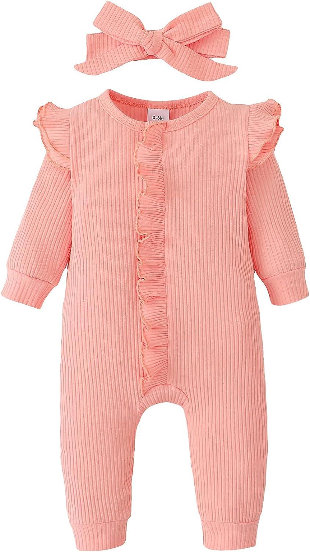 Genuine ZOEREA Beauty products Newborn Infant Baby Girl Sleeve 0-18M Ruffle Romper Long