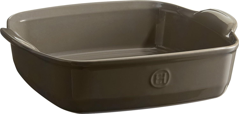 Emile Henry 952050 Ultime Square Baking Dish, 11  x 9 , Flint