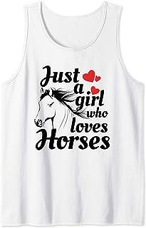 Cadeau d'amant de cheval l Juste une fille qui aime les Débardeur