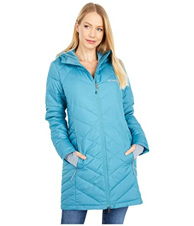 Columbia Heavenly Long Hooded Jacket (Canyon Blue) Women
