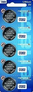 1 X Strip of 5 Genuine renata CR2032 3v Lithium 2032 Coin Batteries Freshly Packed by renata