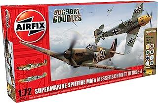Airfix 1:72 Dogfight Doubles Spitfire Mk1a and Messerschmitt Bf109e-4 Military Aircraft Gift Set