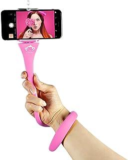 MONKEYSTICK rosa   Biegsamer Selfie Stick für Handy & GoPro/Flexibles Stativ/rutschfeste Silikon Beschichtung