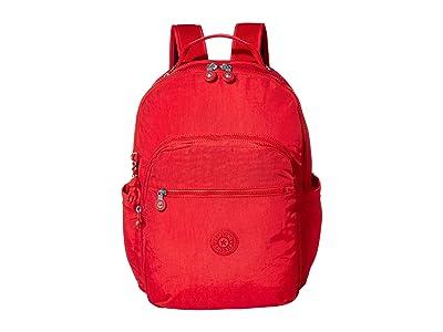 Kipling Seoul Laptop Backpack (Red Rouge) Backpack Bags