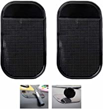 Alotm 2 Pack Non-Slip Car Dash Sticky Pads, Heat Resistant Anti-Slip Mats, Cell Phone Mount Holder Mat Compatible with Huawei Google Nexus 6P Galaxy S7 Edge S7 S8 Plus Note 8