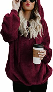 Oversized Sweatshirts for Women Athletic Womens Sherpa Hoodie Fluffy Women's Hoodies Pullover with Pockets