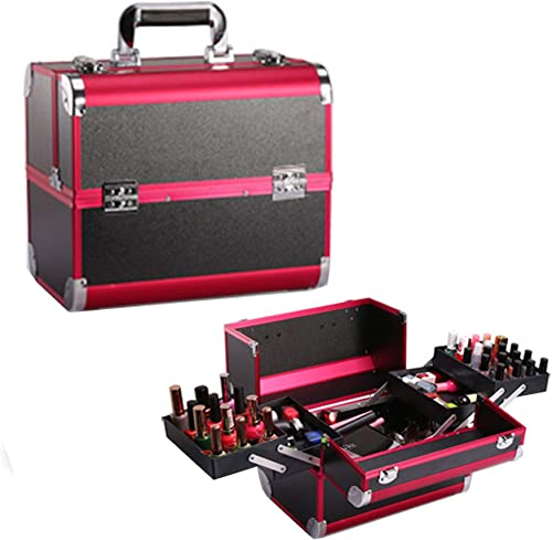 lowest labworkauto Makeup Storage Cosmetic Box Portable online sale Aluminum Professional Makeup discount Tools Storage online sale