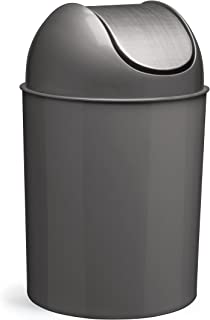 Umbra Mezzo Swing-Top Waste Can, 2.5-Gallon (9 L), Brushed Nickel/Silver