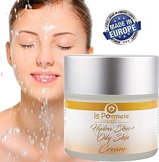 Crema hidratante facial 50ml piel grasa mixta y acnéica. Hombre o mujer. Anti edad con Ácido Hialurónico Vitamina A E. ...