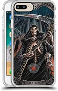 Official Anne Stokes Final Verdict Tribal White Shockproof Gel Bumper Case for iPhone 7 Plus/iPhone 8 Plus