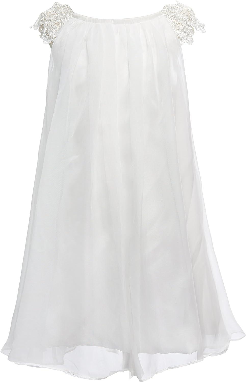 Mrprettys Blush Ivory Chiffon Flower Gi We OFFer at cheap prices Girl Dress Toddler Luxury goods