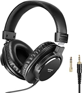 Neewer Studio Monitor Headphones - Dynamic Rotatable Headsets with 40mm Loudhailer Driver, 3 meters Cable, 6.35mm Plug Adapter for PC, Cell Phones, TV (NW-2000)