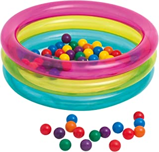 Intex Inflatable Baby 50 Balls Pit, 86 x 25 cm – 1/3 A – 48674 NP, Multi color