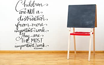 Children Are Not a Distraction C. S. Lewis Quote Wall Decal Sticker 24