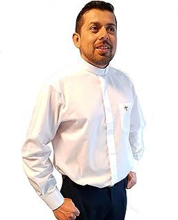 DELL'ARTE articulos religiosos Camisa para Cura, Sacerdote, Clergyman, Manga Larga