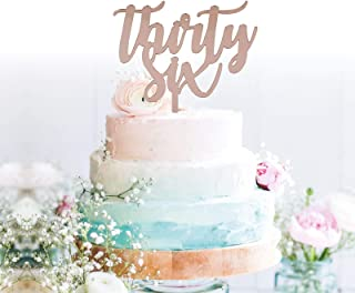 GrantParty Thirty-six Rose Gold Cake Topper |36th Birthday Anniversary Wedding Party Decoration Ideas| Perfect Keepsake (36 Rose Gold)